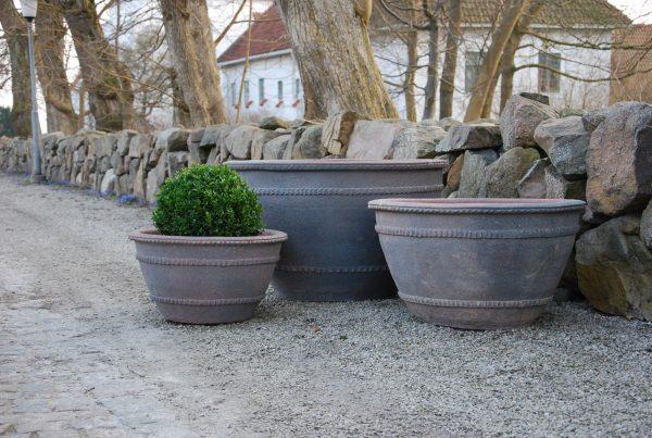 planteringskärl wide fired earth stora krukor ute park och trädgård utekrukor