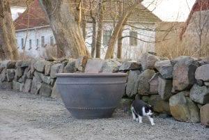planteringskärl wide fired earth frosttåliga utekrukor stora för park och trädgård