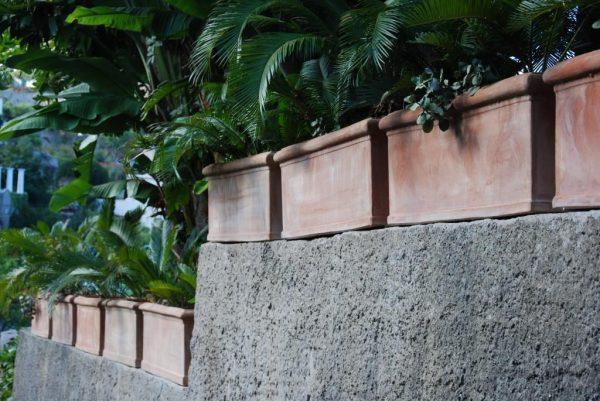 Cassetta Liscia Toscana fyrkantiga terrakottakrukor utekrukor planteringskärl stabila krukor