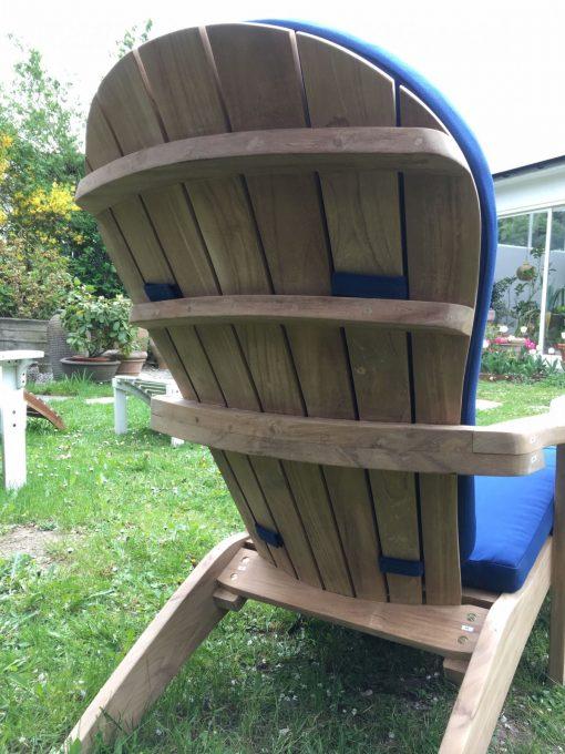 Adirondackstol teak baksida rygg new england för trädäck och trädgården
