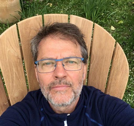 Adirondackstol teak new england för trädäck och trädgården extra hög rygg