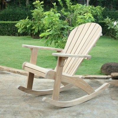 Teakmöbler Adirondackstol gungstol solstol loungemöbler för trädgården och uteplatsen1