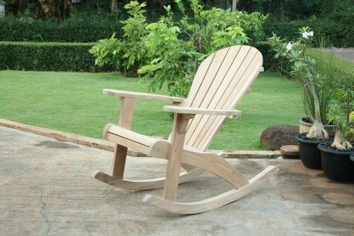 adirondackstol gungstol i teak solstol loungemöbler för trädgården och uteplatsen