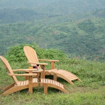 adirondack stol i teak för trädgården och uteplatsen