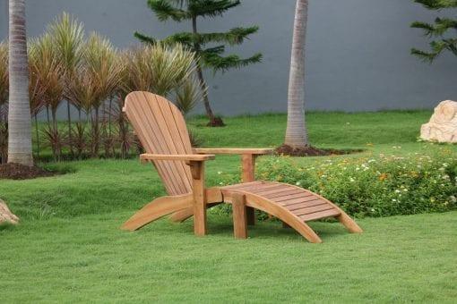 adirondack stol i teak new england design för trädgård uteplats solstol