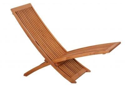 Solstol teak - Bali vilstol minimalistisk design och mycket sittskönrädgården poolen uteplatsen