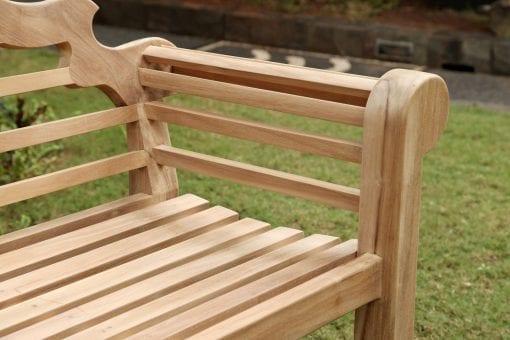 Teakmöbler Lutyens soffor loungemöbler för trädgården closeup