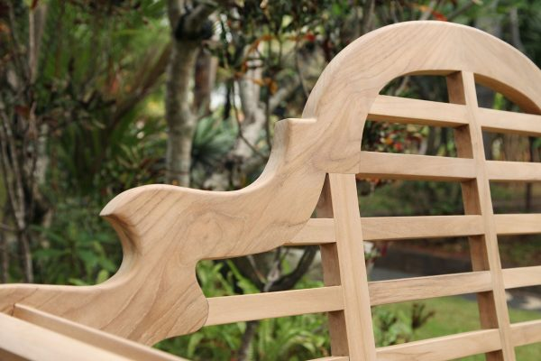 Teakmöbler Lutyens soffor loungemöbler för trädgården ryggdel utemöbler