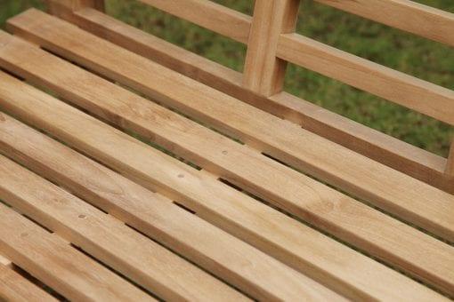 Teakmöbler Lutyens soffor loungemöbler för trädgården closeup trädgårdsmöbler