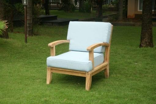 Loungefåtölj teak Raffles exklusiv deep seating loungemöbel för uteplatsenbra
