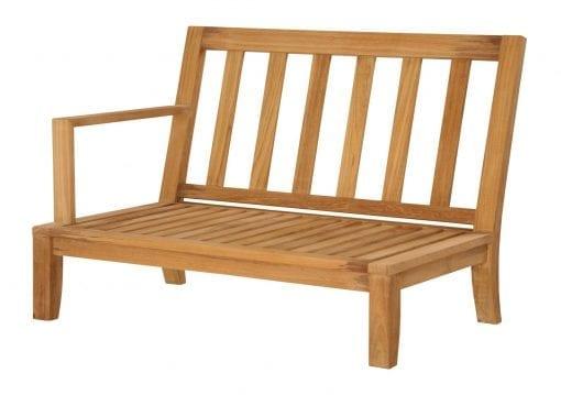 Teakmöbler Raffles modulhöger loungemöbler för trädgården utemöbler