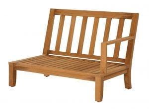 Teakmöbler Raffles modulvänster loungemöbler för trädgården