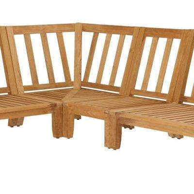 Teakmöbler Raffles soffa hörna loungemöbler för trädgården