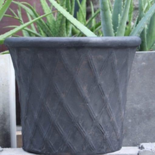 Terrakottakruka Rombo Licorice utekrukor för trädgården kruka