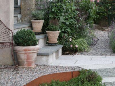 Italiensk patinerad kruka Liscio db vinificato terrakottakruka