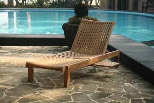 Solvagn teak Bali - en skön solbadd vid poolen och trädgården