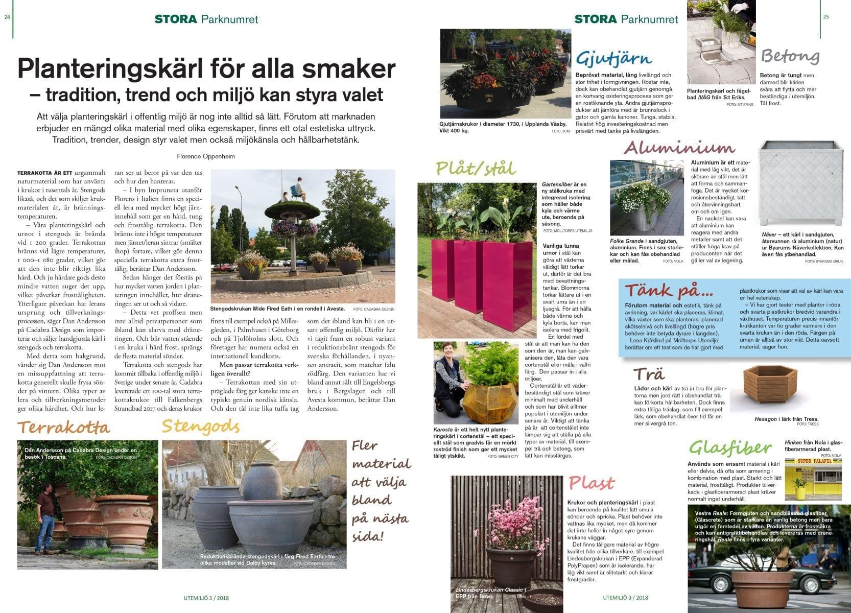 stora planteringskärl utemiljö nr 3 2018