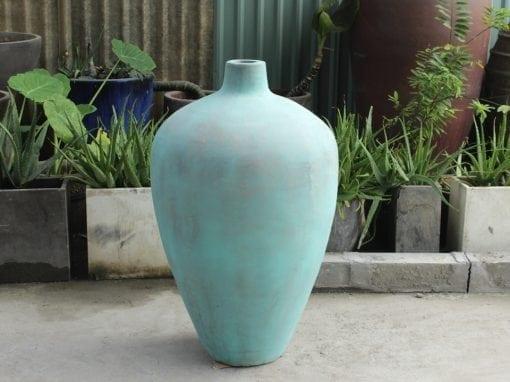 Stor urna Turquise i Bali interior design för modern och exotisk miljö