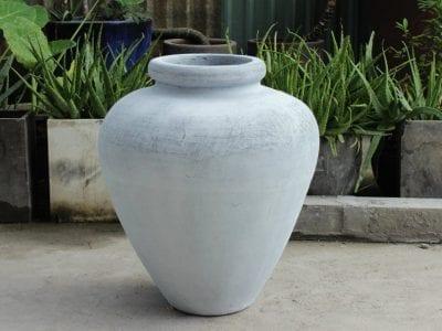 Stor urna Bali White för modern interior design