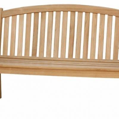engelsk trädgårdssoffa i teak bow back bench 150cm för park och trädgård