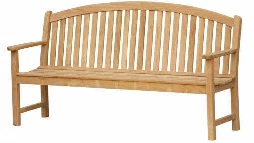 engelsk trädgårdssoffa i teak bow back bench 180cm för park och trädgård