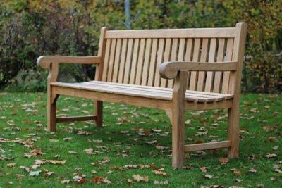 Parksoffa teak Notting Hill för park trädgård kyrkogård 185cm