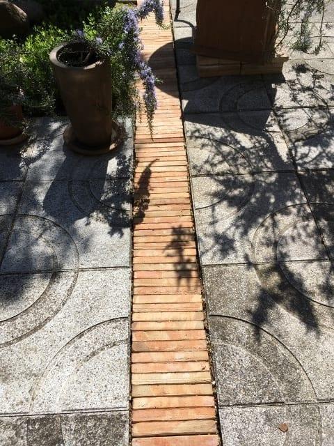 handslaget tegel kreta frosttaligt golvtegel orangeri