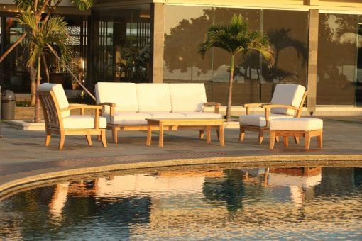 Loungemöbler i teak - Raffles grupp med Sunbrellatyg