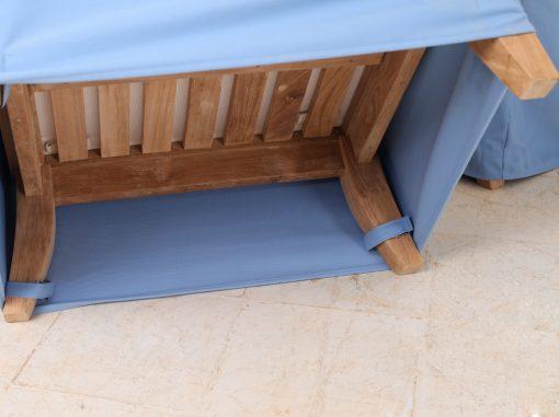Overdrag loungemobler kardborreband