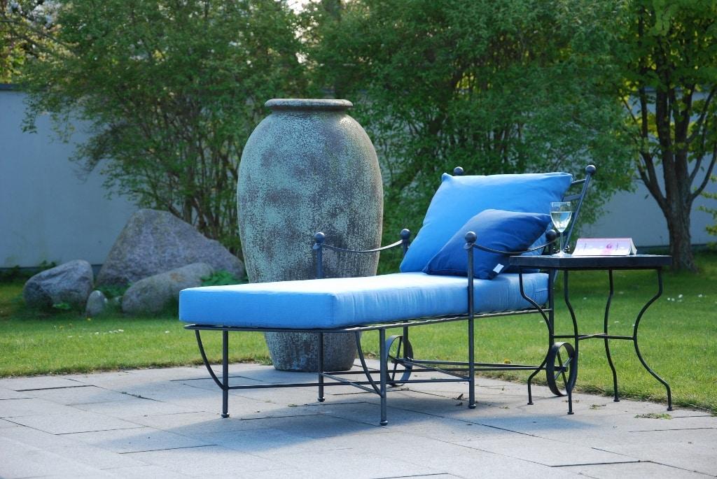 smidesmöbler dolce solvagn med frosttålig stor urna olivo gigante