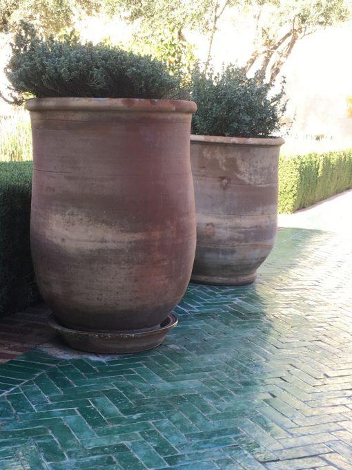 Marrakech stora terrakottakrukor och urnor