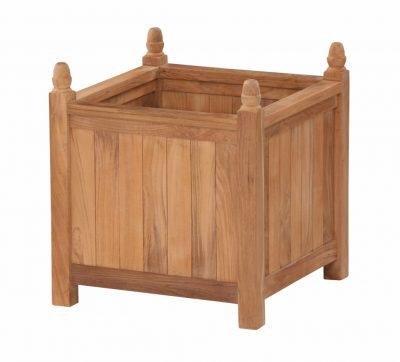 Planteringskärl teak Versailles box kärnteak grade A kruka för trädgård och park