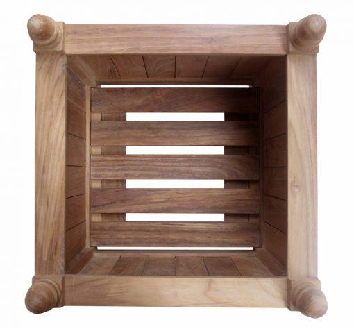 Planteringskärl teak Versailles box kärnteak grade A 55x55cm kruka uppifrån för park och trädgård